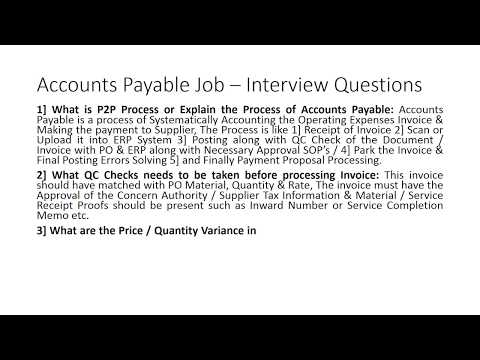 Accounts Payable Job - Mostly Asked Interview Questions & Answers