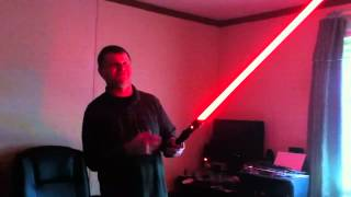 Ultrasabers Dark Prophecy with Blazing Red blade review.