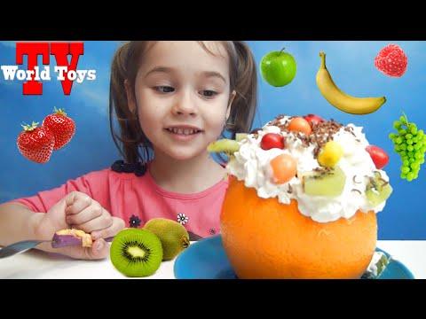 Фруктовый салат. Арина готовит вкусняшку || Fruit salad for children