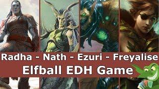 Radha vs Nath vs Ezuri vs Freyalise EDH / CMDR game play for Magic: The Gathering