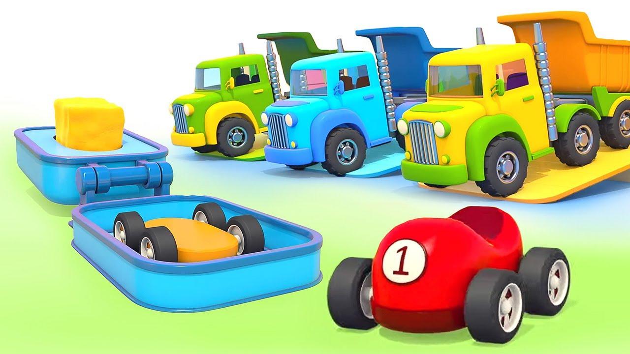 Encontramos um molde para fazer carros! Animação infantil educativa em português!