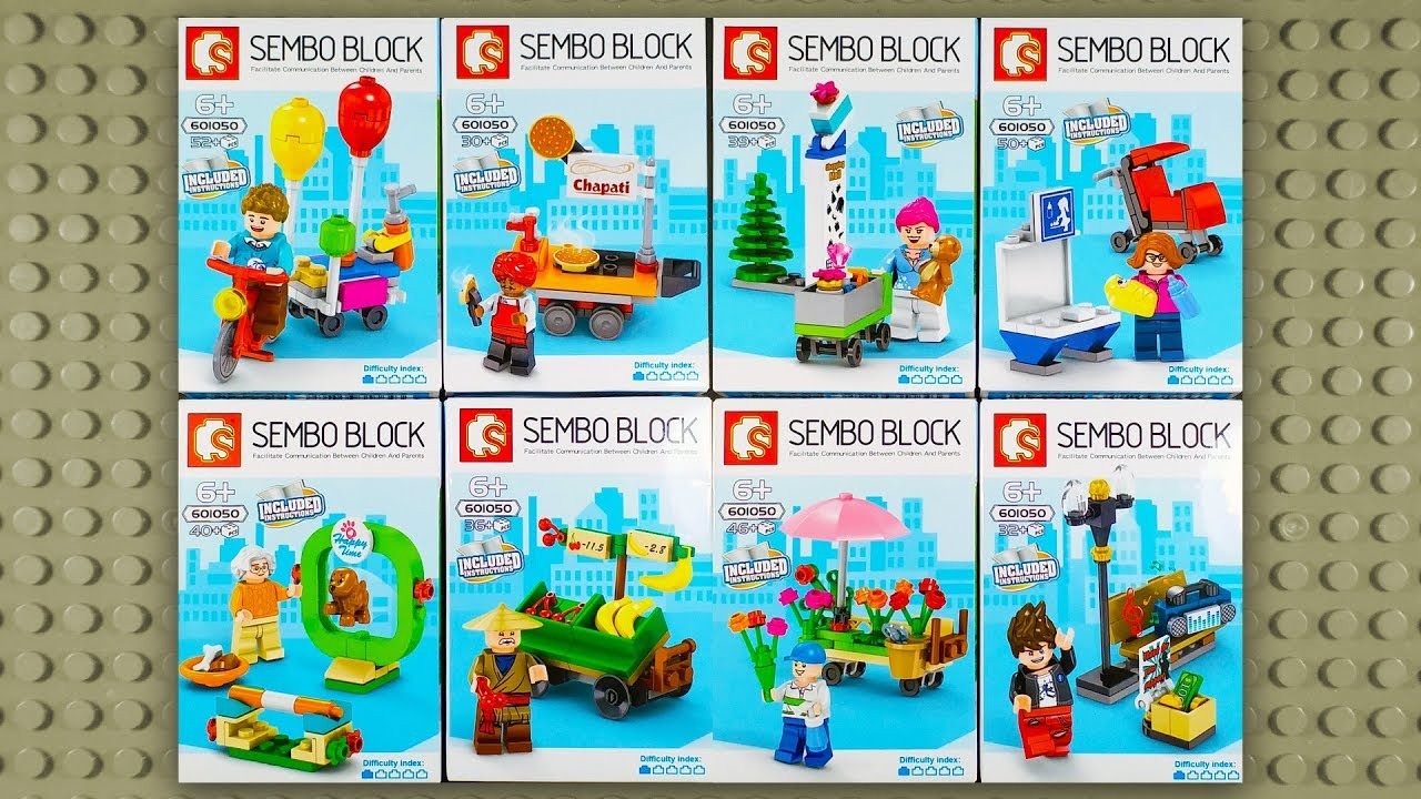 LEGO Sembo Block sets with Minifigures (knock-off) 601050