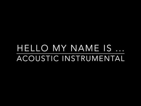 Hello My Name Is - Matthew West - Acoustic Instrumental