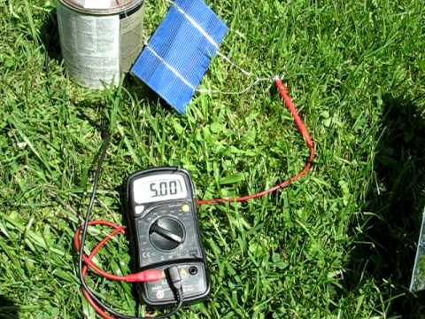 solar cell test more amps with mirror solar cells with high amps solar panel youtube. Black Bedroom Furniture Sets. Home Design Ideas