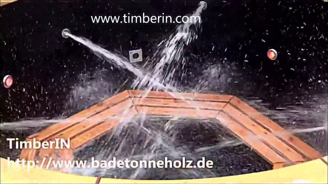 Wood fired hot tub with jets - outdoor whirlpool - Außenwhirlpool ...
