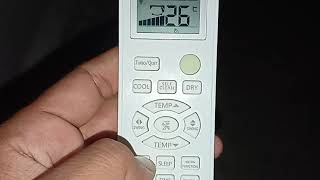 Haier Ac Remote full functions letest haier ac functions