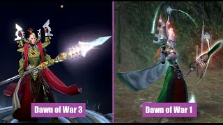 Dawn of War 1 vs Dawn of War 3 Eldar Unit Comparison