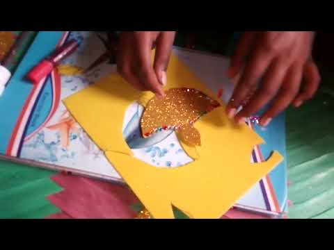 Make a beautiful paper sparkal sheet diya