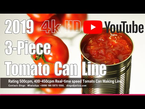 Tomato Paste Can Making #foodcanline #canmaking