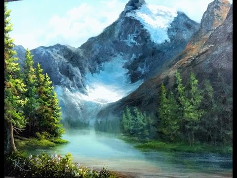 Paint With Kevin Hill - Canadian Glacier