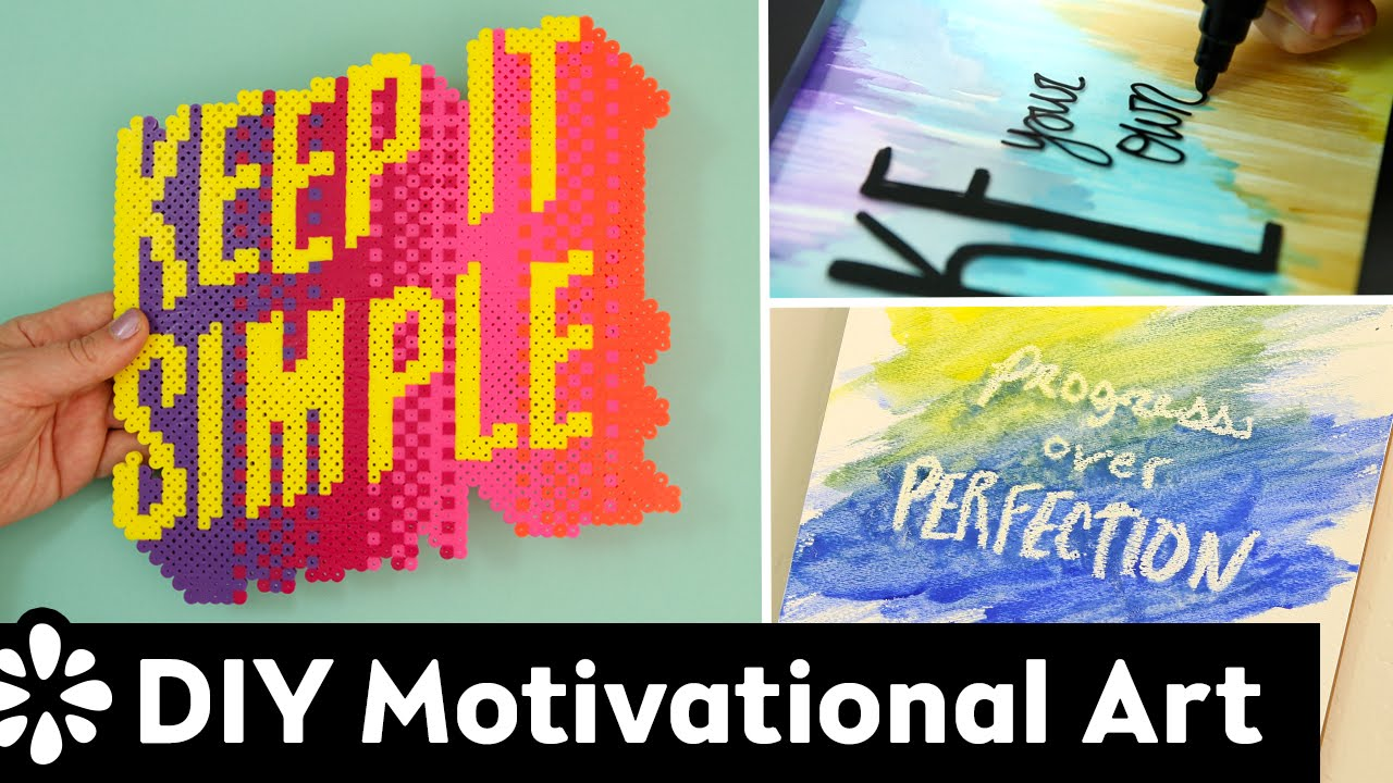 DIY Motivational Wall Art & Room Decor | Sea Lemon - YouTube