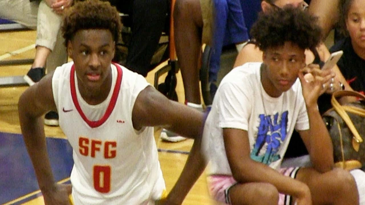 Download Mikey Williams Watches Bronny James SFG DESTROY Team In Front Of Thousands Of Fans