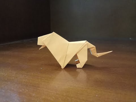 How To Make A Paper Origami Lion Easy