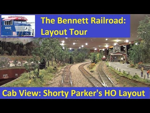 Layout Tour: Cab Ride on Shorty Parker's HO Scale Layout