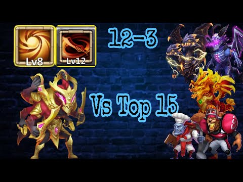 Asura | Sacred Light | Vs Top-15 Beast | No Warden/Pet/Crest | Crazy Tank | Castle Clash