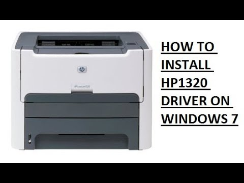 How To Download And Install Hp 1320  Driver In Windows 7