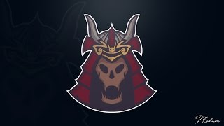 Illustrator Speedart : Team logo Creation Samurai Skull ( E-Sports/Sports )