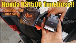 Honda RS150R With Tuneboss   Unboxing and Installation  