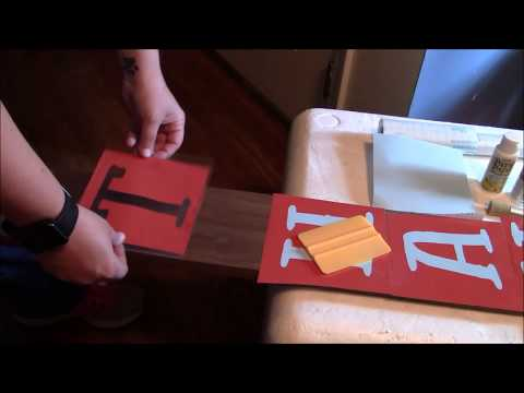 Cricut porch sign Thankful welcome stenciling tutorial video