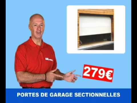 porte de garage sectionnelle youtube. Black Bedroom Furniture Sets. Home Design Ideas