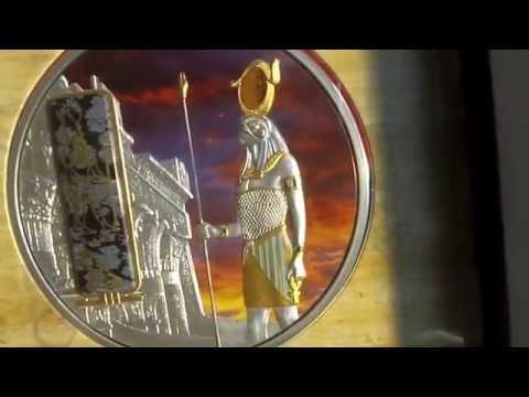 Silbermünze Horus mit hoher Wertsteigerungsmöglichkeit, nur 999 Stück weltweit