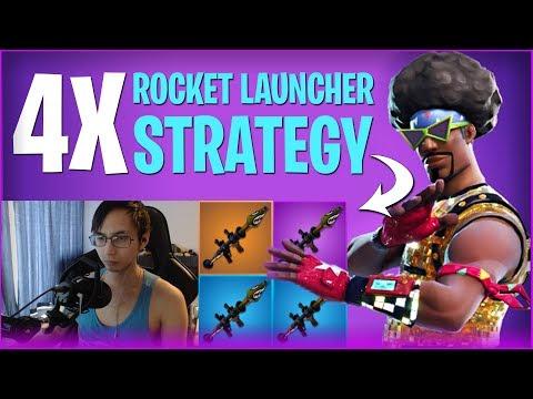 4 Rocket Launchers Strategy! - Fortnite Battle Royale SingSing