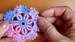 Вязаные цветы Урок 39 Сrochet flower pattern