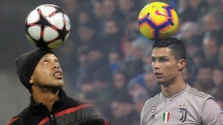 Ronaldinho Vs Cristiano Ronaldo Magic Freestyle Skills 😱