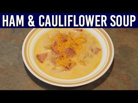 Low Carb Ham And Cauliflower Soup Recipe | Gluten Free | Slow Cooker | Soup Recipes | Tutorial