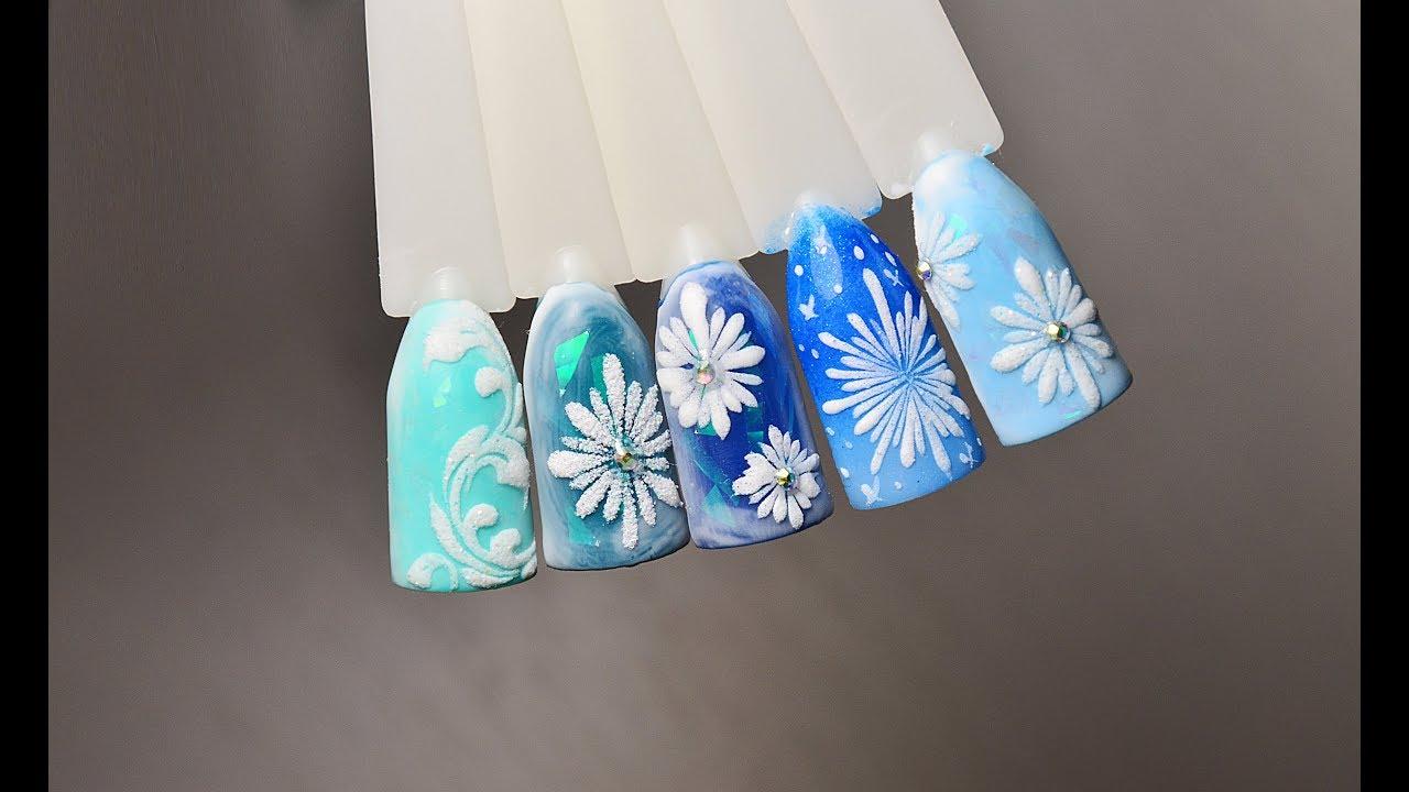 красивых снежинка на ногтях пошаговое фото отношение