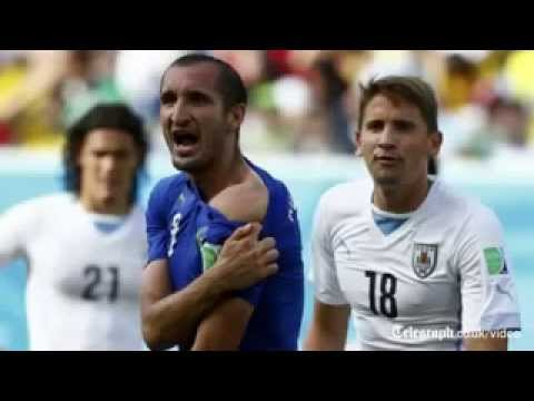 Cannibal' Strikes Again: Luis Suarez Appears to Bite Italian Player