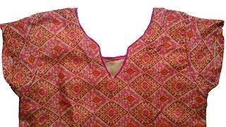 kurti neck design DIY   cutting and stitching of kurti with lining full video