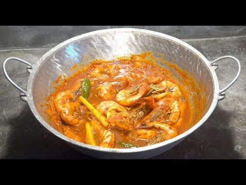 🔴 Lemongrass Prawns - Spicy Chili Tomato Prawns - Chili Shrimp - Tomato Chili Prawns - King Prawns