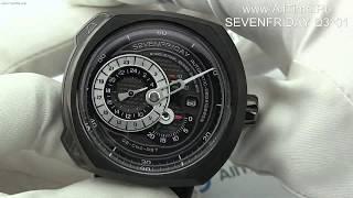 Обзор.  Мужские швейцарские механические наручные часы SEVENFRIDAY Q3/01