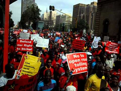 Cosatu Strike in Johannesburg 7 March 2012