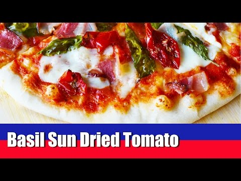 Basil Bacon Sun Dried Tomato Pizza – Quick and Easy to make Homemade Pizza