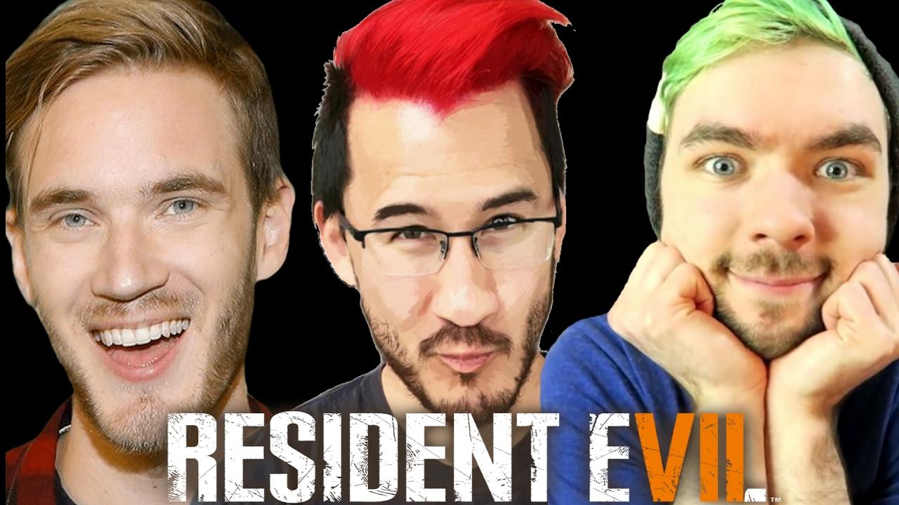 Markiplier, JackSepticEye, And PewDiePie Resident Evil 7 Jumpscare Montage Part 1!