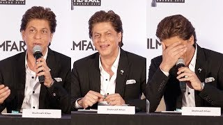 Shahrukh Khan's FUNNY MOMENTS At Filmfare Awards 2017 Press Conference