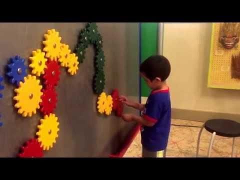 Things to do in Houston - children's museum - Max and Abby have fun