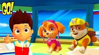Щенячий Патруль Крепыш и Скай спасают Джейка на горе игра мультфильм для Детей на Русском Языке