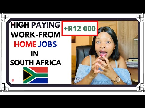 HIGH PAYING WORK-FROM HOME JOBS IN SOUTH AFRICA