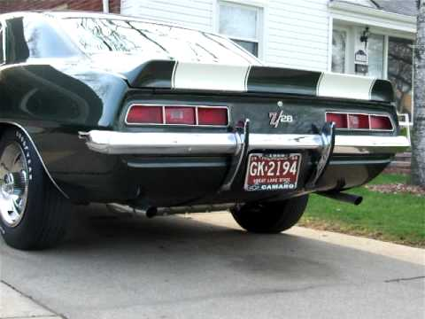 1969 Z28 DZ302 with 140 First Design Offroad Camshaft. Headers and Gardner Chambered Exhaust ...