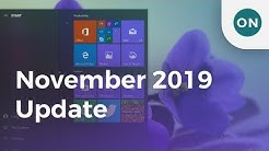 Hands-on: What's new in the Windows 10 November 2019 Update?