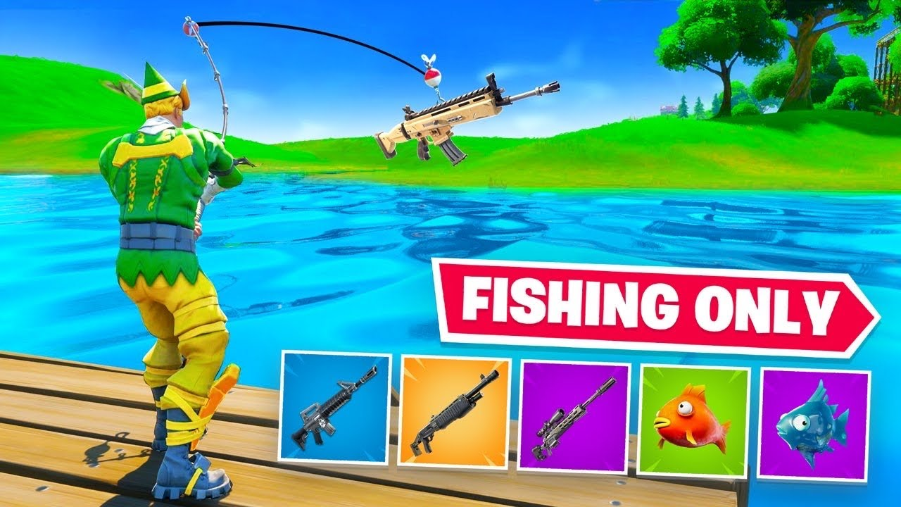Using *ONLY* Fishing Loot to WIN Fortnite 2! thumbnail