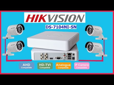 How to install surveillance || security system DVR || camera hikvision ds-7104