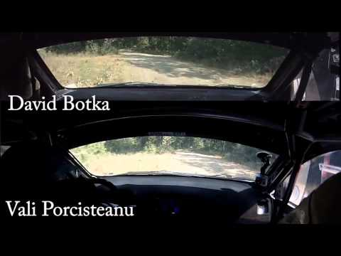 Vali Porcisteanu vs. David Botka - Raliul Aradului 2013 - ps 12 - Sistarovat 3 onboard