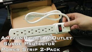 Unboxing  - AmazonBasics 6-Outlet Surge Protector Power Strip 2-Pack