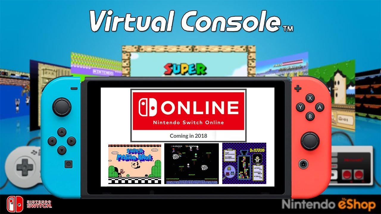 Nintendo Switch Classic Games Virtual Console Separate