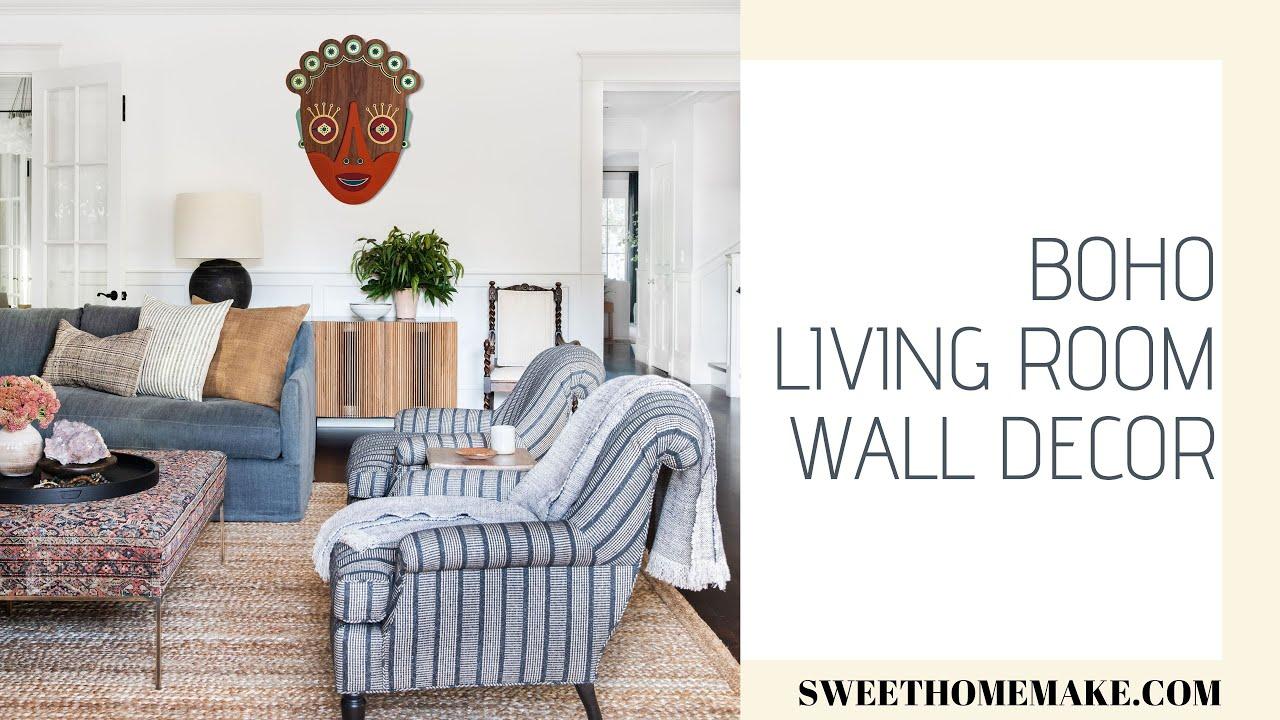 Boho Living Room Wall Decor Youtube