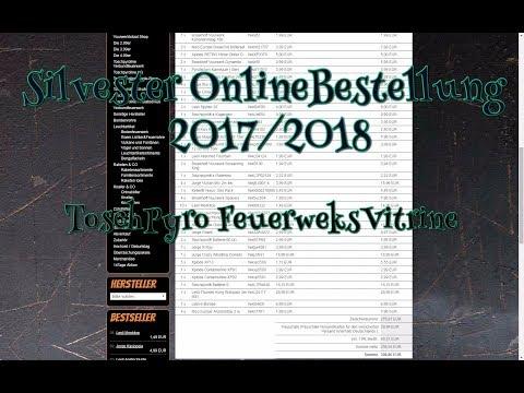 Silvester Onlinebestellung 2017/2018 ToschPyro/Vitrine